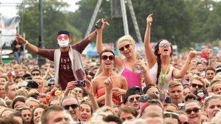 Revellers at last year's V Festival at Hylands Park