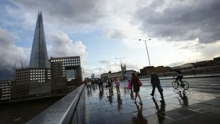 Up to 10 to 15mm of rain in an hour is expected today