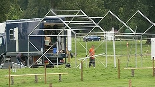 Trade stands going up ahead of the weekend