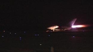 A Tornado taking off in Cyprus