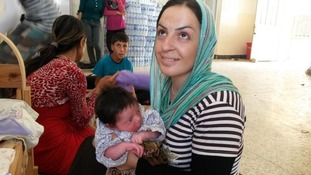 This woman gave birth while fleeing Islamist militants.