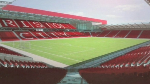artists impression of bristol city stadium