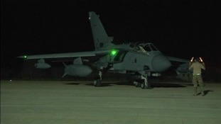 An RAF Tornado jet at a British base in Cyprus