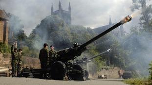 Regimental light guns will be firing as part of Worcester Artillery Day