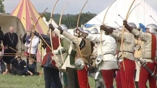 Archers during last year's reenactment