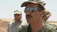 ITV News spoke to a general of Kurdish forces who said t hat ammunition was a problem