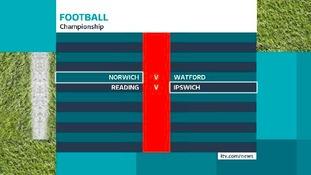 Championship fixtures.