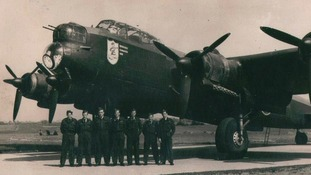 A Wellington Bomber and crew during the Second World War