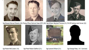 Victims of the Melton Mowbray Wellington Bomber crash