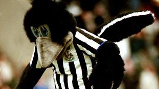 The Newcastle United mascot in 2000.