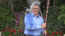 Bill Gates takes the ice bucket challenge.