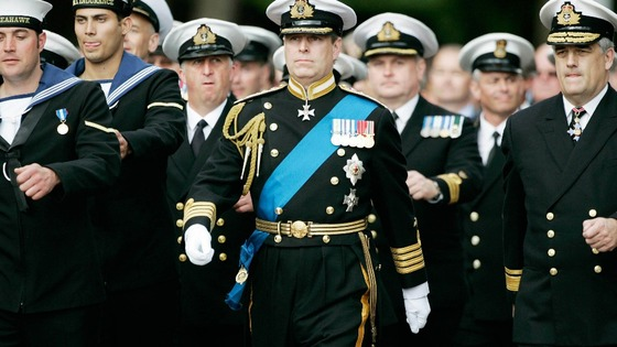 Duke of York marching with the Fleet Air Arm