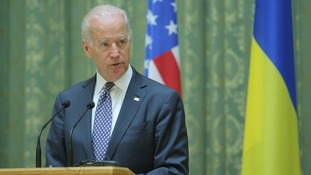 U.S. Vice President Joe Biden in Kiev earlier this year