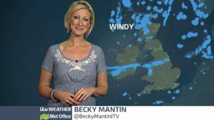 ITV Weather presenter Becky Mantin.