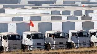 Russian humanitarian aid convoy.