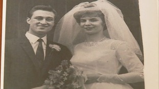 Roger and Doreen on their wedding day.