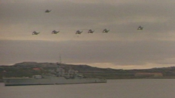 helicopters in Falklands