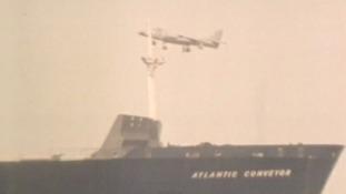 sea harrier and atlantic conveyor
