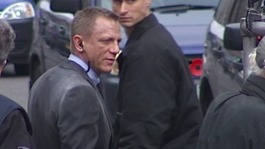 Daniel Craig spotted near the Ministry of Defence in central London