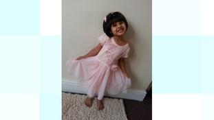 Three-year-old Mayah Shazad from Luton.