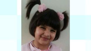 Three-year-old Mahya Shazad from Luton.