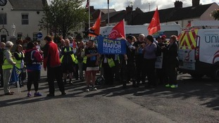 Hundreds marching from Ferryhill