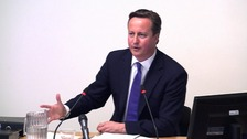 David Cameron facing the Leveson Inquiry