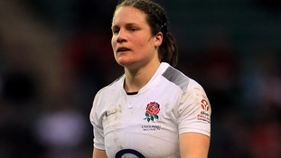 England's Becky Essex during 2011 Six Nations.