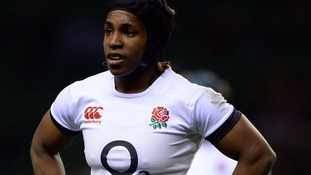England's Margaret Alphonsi during the 2014 Women's RBS 6 Nations match at Twickenham Stadium, London.