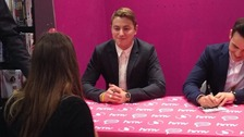 Carlisle's Matt Pagan greets fans at the Collabro album launch