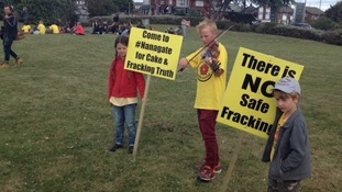 Anti-fracking protesters start to gather for 'day of action'