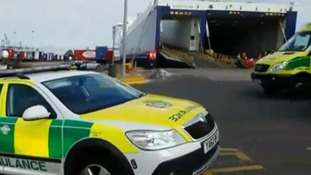 Emergency service at the scene in Essex
