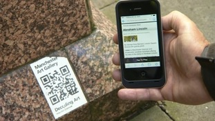 Passers-by will be able to swipe their smartphones over plaques on the chosen statues