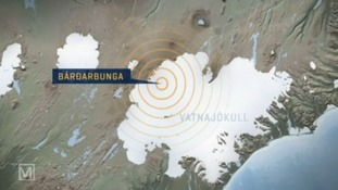 The Bardarbunga volcano is situated beneath the Vatnajökull glacier