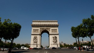 The Arc de Triomphe, near the Champs Elysees, near where the prince's convoy was attacked.
