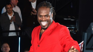Boxer Audley Harrison enters the Big Brother house.