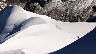 The slopes of Mt Blanc