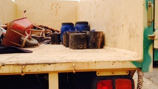 Improvised Explosive Devices located by Peshmerga bomb experts