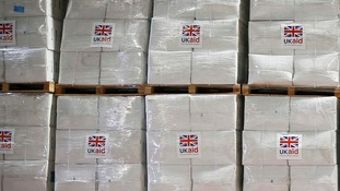 Aid destined for Iraq.