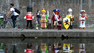 Giant Playmobil characters
