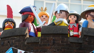 Giant Playmobil figures