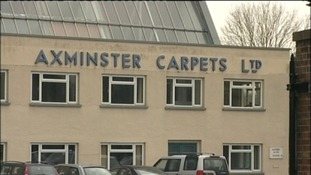 Around 25 firefighters tackled blaze at Axminster Carpets in Devon