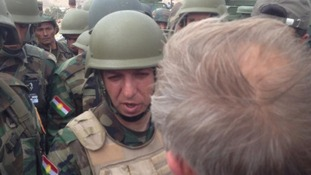 Head of Pashmerga special forces Mansour Barzani speaks to Diplomatic Correspondent John Ray.