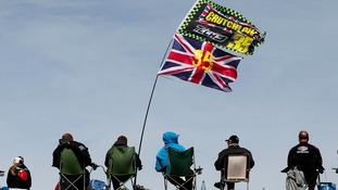 Crutchlow fans watching from the banks at Silverstone