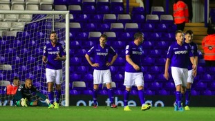 Birmingham City players can't hide their disappointment after Berra's late equaliser.