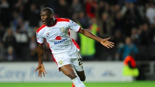 Benik Afobe was on the scoresheet for MK Dons again.