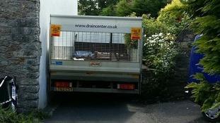 Lorry down lane