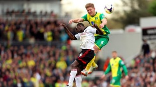 Michael Turner in action for Norwich City last season.