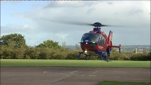 Devon Air Ambulance landing