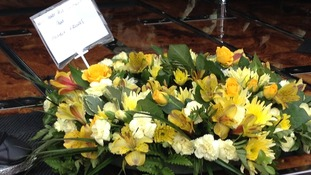 Malaysia Airlines has sent this floral tribute to the family of Liam Sweeney